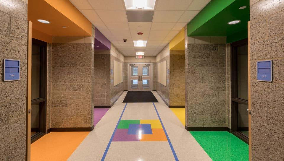 Cedar Ridge Elementary School Hallway 2, Columbia Public Schools