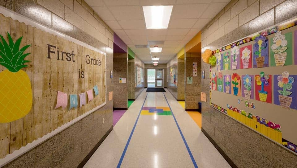 Cedar Ridge Elementary School First Grade Hallway, Columbia Public Schools