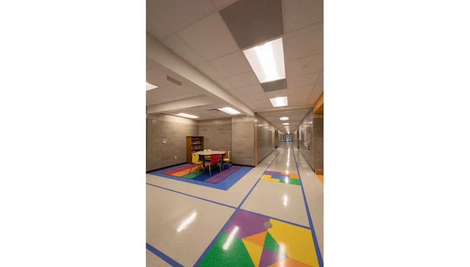 Cedar Ridge Elementary School Corridor, Columbia Public Schools