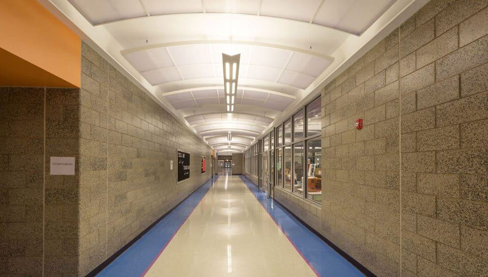 Cedar Ridge Elementary School Hallway, Columbia Public Schools