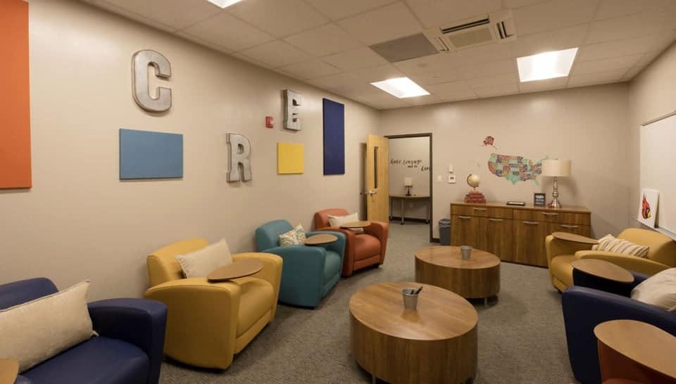 Cedar Ridge Elementary School Lounge, Columbia Public Schools