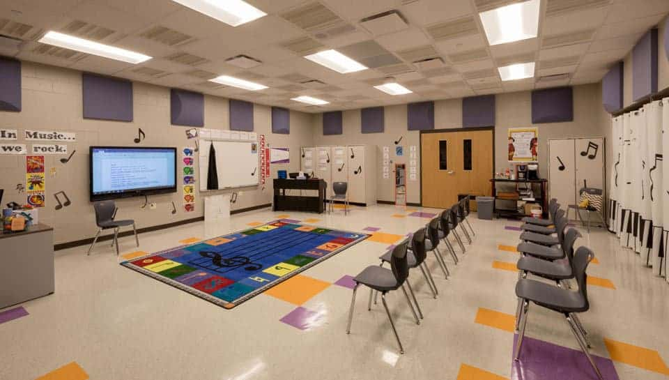 Cedar Ridge Elementary School Music Room, Columbia Public Schools