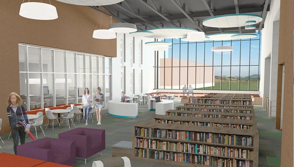 Middle School Interior Media Center